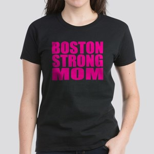 Hot Neon Pink Boston Strong Mom T-Shirt