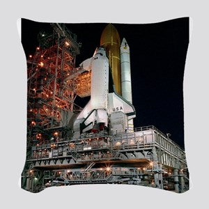 STS-28 Rollout Woven Throw Pillow