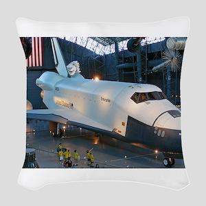 Space_shuttle_enterprise Woven Throw Pillow