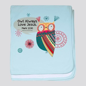 Owl Always Love Jesus Owl baby blanket