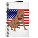 Red Nose Pit Bull USA Flag Journal