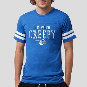 Halloween I'm With Creepy Mens Football Shirt