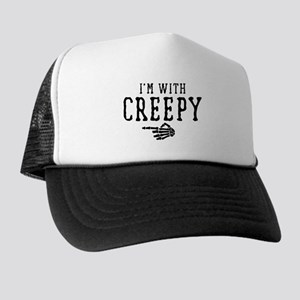 Halloween I'm With Creepy Trucker Hat