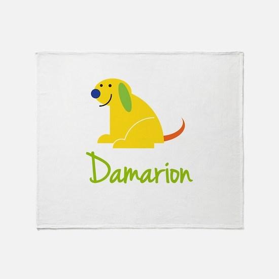 Damarion Loves Puppies Throw Blanket