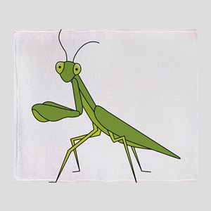 Praying Mantis Throw Blanket