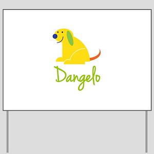 Dangelo Loves Puppies Yard Sign