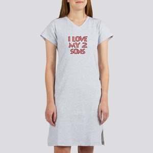 I LOVE MY 2 SONS Women's Nightshirt