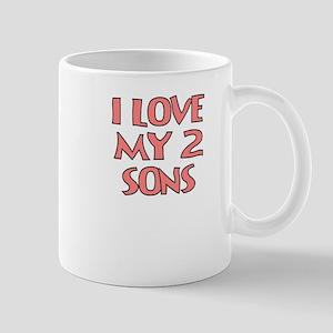 I LOVE MY 2 SONS Mug