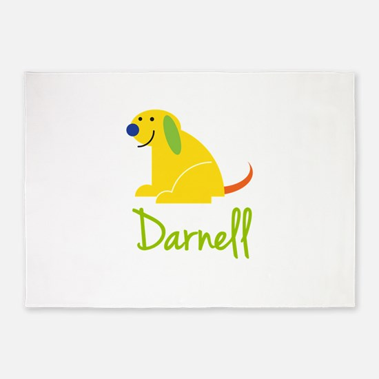 Darnell Loves Puppies 5'x7'Area Rug