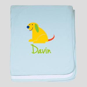 Davin Loves Puppies baby blanket