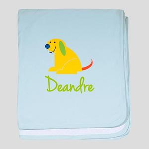 Deandre Loves Puppies baby blanket