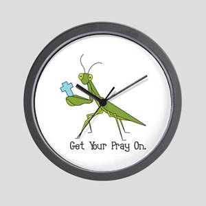 Get Your Pray On Wall Clock