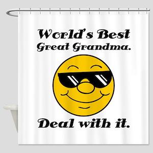 World's Best Great Grandma Humor Shower Curtain