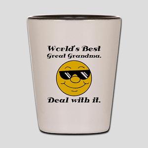World's Best Great Grandma Humor Shot Glass
