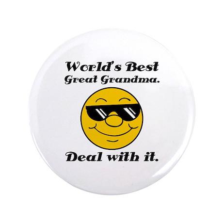 "World's Best Great Grandma Humor 3.5"" Button"