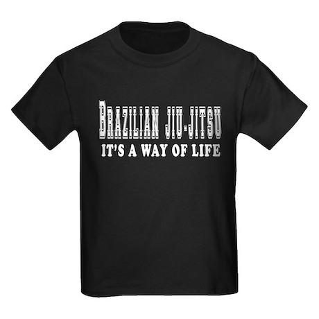Brazilian Jiu-Jitsu Is Life Kids Dark T-Shirt