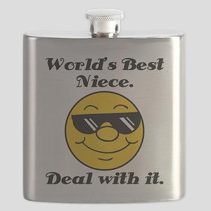 World's Best Niece Humor Flask