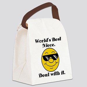 World's Best Niece Humor Canvas Lunch Bag