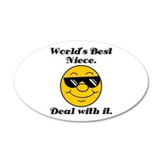 World's Best Niece Humor Wall Decal