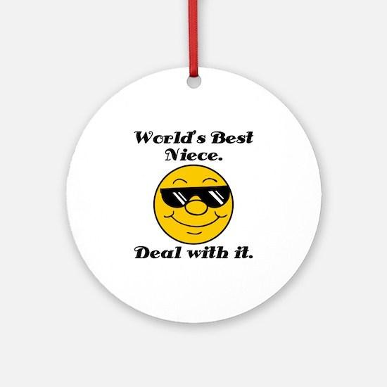 World's Best Niece Humor Ornament (Round)