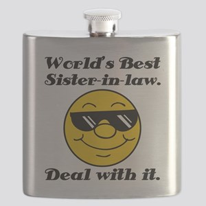 World's Best Sister-In-Law Humor Flask