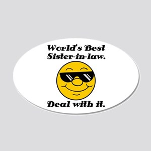 World's Best Sister-In-Law Humor 20x12 Oval Wall D