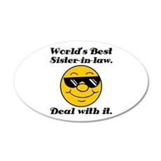 World's Best Sister-In-Law Humor Wall Decal