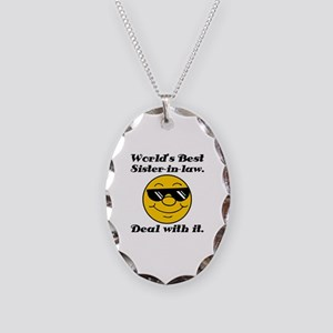 World's Best Sister-In-Law Humor Necklace Oval Cha