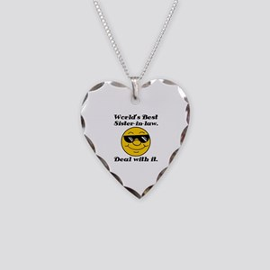 World's Best Sister-In-Law Humor Necklace Heart Ch