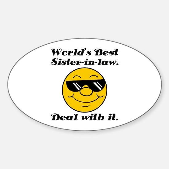 World's Best Sister-In-Law Humor Sticker (Oval)