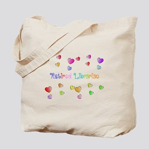 Retired Librarian HEARTS Tote Bag