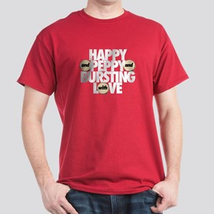 Happy and Peppy Cardinal Red T-Shirt