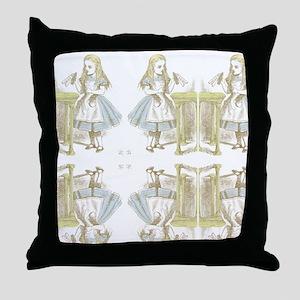 Drink Me Alice in Wonderland Throw Pillow