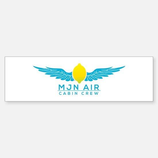 Cabin Crew Bumper Car Car Sticker