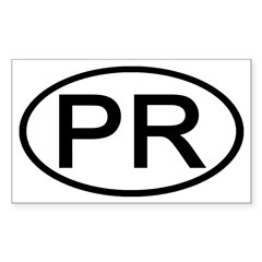 PR Oval - Puerto Rico Rectangle Decal