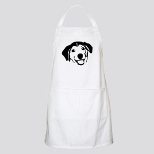 Smiling Black Dog Light Apron