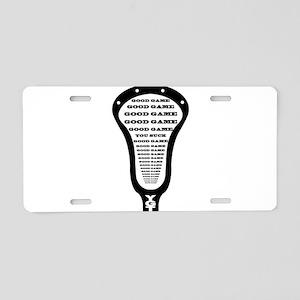 Lacrosse Good Game You Suck Aluminum License Plate
