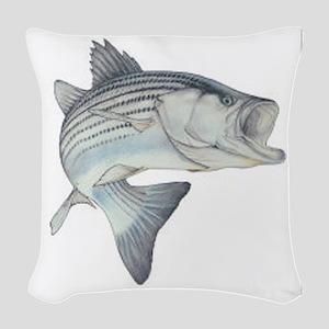 Stripe Bass Woven Throw Pillow