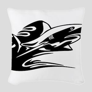 fish2 Woven Throw Pillow