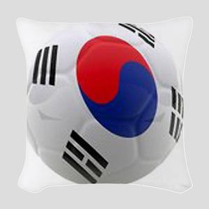 South Korea world cup soccer ball Woven Throw Pill