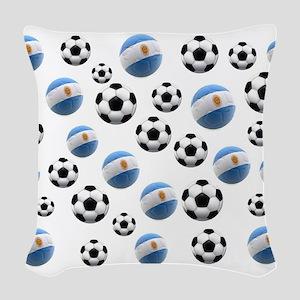 Argentina world cup soccer balls Woven Throw Pillo