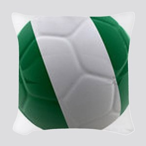 Nigeria World Cup Ball Woven Throw Pillow