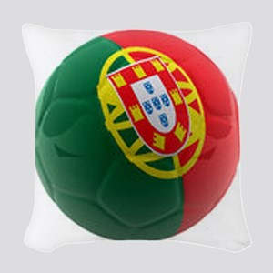 Portugal World Cup Ball Woven Throw Pillow