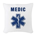 medic star of life.... Woven Throw Pillow