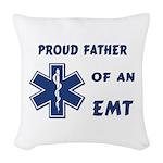 EMT Father Woven Throw Pillow