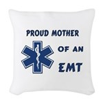 Proud Mother of an EMT Woven Throw Pillow