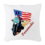 paramedic biker Woven Throw Pillow