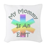 EMT Mom Woven Throw Pillow