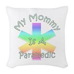 Paramedic Mom Woven Throw Pillow
