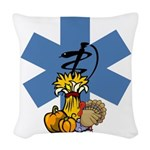 EMS Thanksgiving Woven Throw Pillow